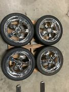 Zenetti Five Chrome Wheels Rims 18andrdquo Inch Staggered W Locking Nuts Gm Bmw Chevy