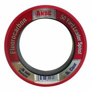 Ande Fpw-50-40 Fluorocarbon Leader Material, 50-yard Spool, 40-pound Test, Pink