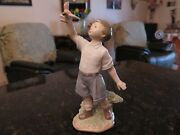 Boy Bird { Fly Free Forever } Lladro 8060 Retired On 2015-difficult To Find
