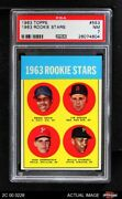 1963 Topps 553 Willie Starge Colt 45s / Red Sox / Phillies / Pirates Psa 7 - Nm