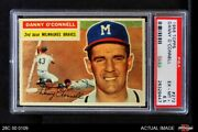1956 Topps 272 Danny O'connell Braves Psa 6.5 - Ex/mt+