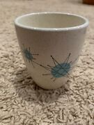 Very Rare Franciscan Atomic Starburst China Juice Tumbler - Excellent Condition
