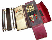 Fine Victorian Fishing Compendium Wallet Rosewood Winder And Floats
