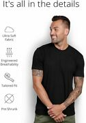 Into The Am Menand039s Basic Crew Neck Tees - Soft Modern Fitted Logo T-shirts