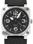Bellandross Aviation Ref.br03-92 Ss/rubber 51mm Menand039s Automatic