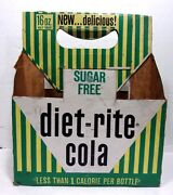 Vtg Diet-rite Cola Sugar Free New Delicious Soda Beverage Paper Carrying Case