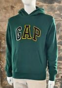 Menand039s Gap Sweats Green Hoodie Hooded Sweater Size Small Large Chest Logo  257