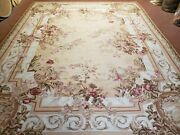 Aubusson Rug 9 X 12 Brand New Savonnerie Carpet French European Style Wool