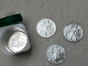 10 2014 American Silver Eagle Coins With Mint Tube.