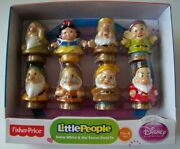 Little People Snow White And The Seven Dwarfs Figures New Dwarves Fisher Price