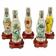 Collectible Coca-cola Special Edition Asian Chinese Bottles A Set Of 5