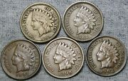 1860 1864 Copper Nickel 1897 1898 1902 Indian Cent Penny Nice Lot ---- S569