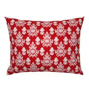Large Scale Texture Red And White Christmas Holiday Ikat Pillow Sham By Roostery
