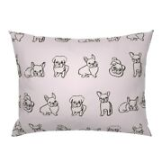 Friendly French Bulldogs Bulldog Pug Puppies Frenchie Pillow Sham By Roostery