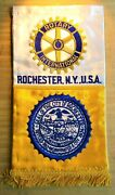 Gemsco Nos Vintage Patch Banner - Rotary Intl. Club Rochester Ny - Original 60+