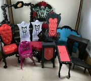 Monster High Mixed Lot Of Furniture 13 Pieces For Doll House Free Shipping