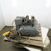 Cm Chisholm-moore 1-1/2 Ton Electric Hoist Wire Rope 20and039 Lift W/power Trolley