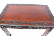 Antique American Victorian Heavily Carved Mahogany Center Table 19th