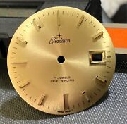 Nos Tradition As 1717 Automatic Dial 1 3/16in Sphere Vintage Watch Swiss Parts