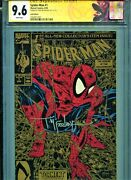 Spider-man 1 Cgc Ss Signature By Todd Mcfarlane Gold Variant 9.6 Custom Label