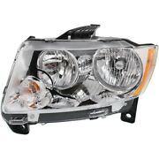 Headlight Lamp Left Hand Side Driver Lh Ch2502224 55079379af For Grand Cherokee