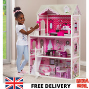 Beautiful Large Isabelle's Doll House Dolls Furniture 3 Storey Girls Toy Gift