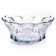 Fostoria Frosted Coin Clear Glass Punch Bowl