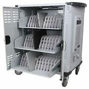 Premium Fully Assembled Heavy-duty Smart Charge Mobile Storage Cart 42 Device