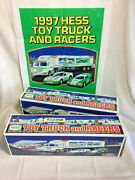 Lot Of 2 New1997 Hess Toy Truck And Racers Hess Plastic Sale Bag-1 Per Lot