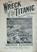 The Wreck Of The Titanic Descriptive Musical Sketch For The Piano. H Augarde.