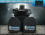 Ar500 Level 3 Iii Body Armor Plates- 10x12 With Molle Vest Carrier And Mag Pouch