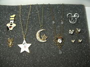 8 Pc. Vintage Disney Minnie-mickey Mouse-daisy-goofy - Necklaces-pins-earrings