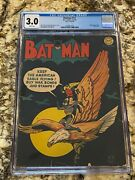 Batman 17 Cgc 3.0 Rare White Pages Classic Ww2 Cover Hot Iconic Book Invest Now