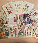 Vintage Barbie Doll Clothes Sewing Patterns - Lot Of 17 - Simplicity Mccall's