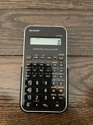 Sharp El-501x Scientific Calculator With Case - Tested And Working Free Shipping