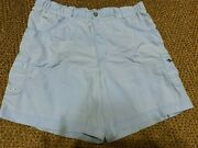 Womans Columbia Blue Shorts Small S 30 - 32 Stretch Fishing