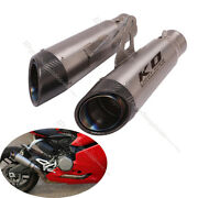 Universal 61mm Exhaust Tail Pipe Motorcycle Titanium Alloy Mufflers Left Right