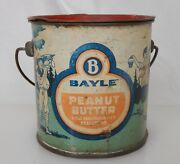 Bayle Peanut Butter Advertising Food Tin Pail Can - 83935