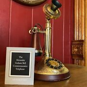 The Franklin Mint 150th Yr Commemorative Alexander Graham Bell Candlestick Phone