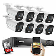 Annke 4mp Full Color Security Poe Ip Camera System 8ch 4k/6mp Nvr Outdoor Motion