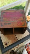 Vintage Pepsi Cola Andldquohits The Spot Down On The Beachandrdquo Wooden Crate Box W/lid