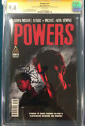 Powers 1 Cgc 9.4 Brian Michael Bendis And Avon Oeming Signed Comic Not Cbcs