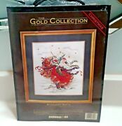 Dimensions Gold Collection Christmas Windswept Santa Counted Cross Stitch 8449