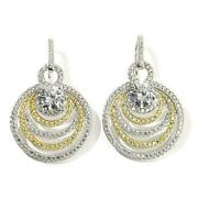 Hsn Jean Dousset Absolute Canary And Clear Drop Earrings 398
