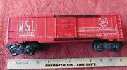 1957 Lionel 6464-525 M.st And L Box Car Red Minneapolis And St Louis Peoria Gateway