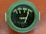 Vintage Wwii Willys Jeep Water Temperature 2 Gauge Army Green