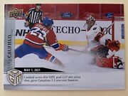 2020-21 Cole Caufield Upper Deck Game Dated Moments May /499. 1st Rc. 1st Goal.
