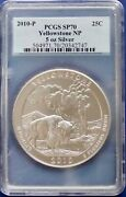 2010 5 Oz Silver Yellow Stone Np America The Beautiful Pcgs Sp 70