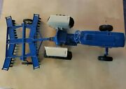 Vintage Ertl Ford 4600 Tractor And Plow Metal Toys