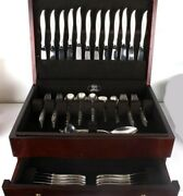 Silver Melody International Sterling Silver Flatware Service For 12 - 77 Pieces
